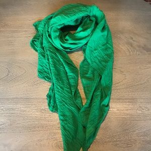 Accessories - Green Crinkle Scarf